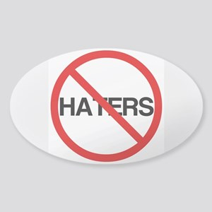 No Haters Sticker (Oval)