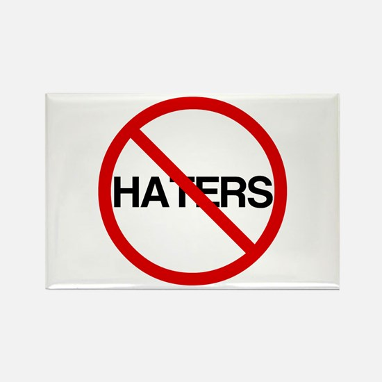 No Haters Rectangle Magnet
