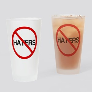 No Haters Drinking Glass