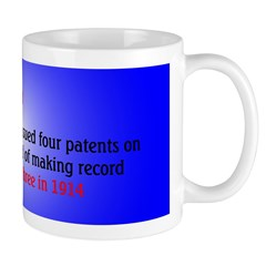 Mug: Thomas A. Edison was issued four patents on p