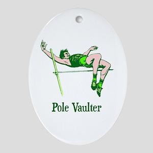 Pole Vaulter Ceramic Ornament