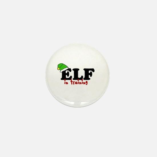 'Elf In Training' Mini Button