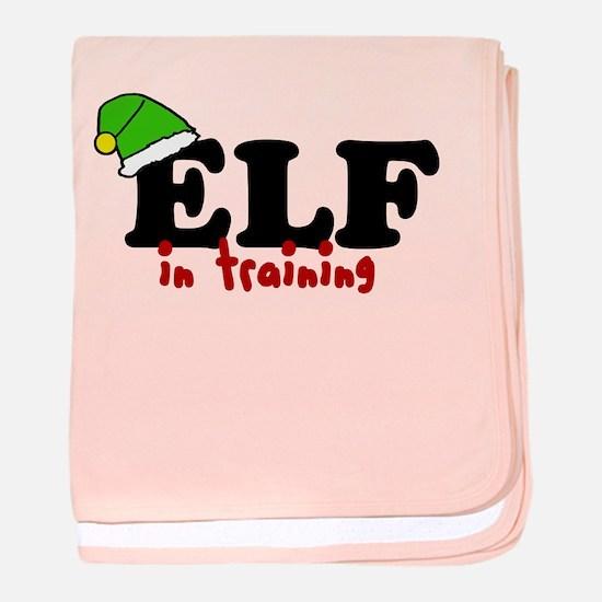 'Elf In Training' baby blanket