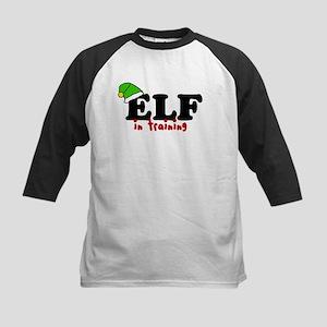 'Elf In Training' Kids Baseball Jersey