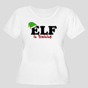 'Elf In Training' Women's Plus Size Scoop Neck T-S
