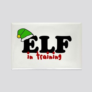 'Elf In Training' Rectangle Magnet