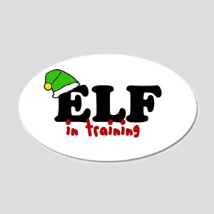 'Elf In Training' 22x14 Oval Wall Peel