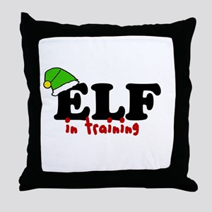 'Elf In Training' Throw Pillow