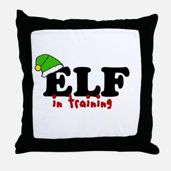 'Elf In Training' Throw Pillow