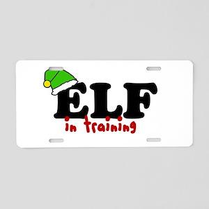 'Elf In Training' Aluminum License Plate