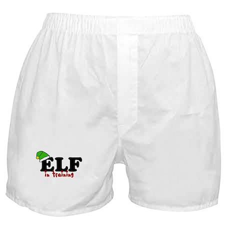 'Elf In Training' Boxer Shorts