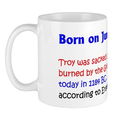 Mug: Troy was sacked and burned by the Greeks toda