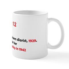 Mug: Anne Frank, German-born diarist, 1929. She re