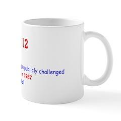 Mug: US President Ronald Reagan publicly challenge