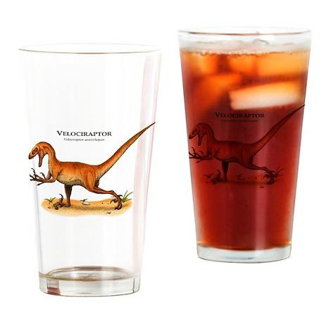 Velociraptor Drinking Glass
