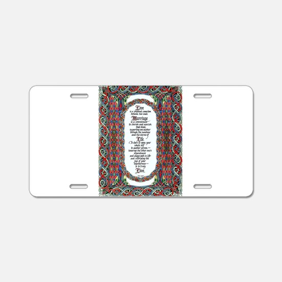 Love and Marriage Aluminum License Plate