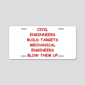 funny engineering jokes Aluminum License Plate
