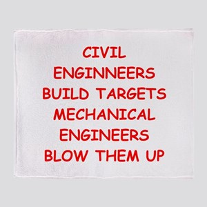 funny engineering jokes Throw Blanket