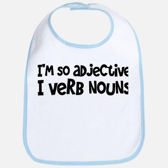 Adjective Verb Noun Bib