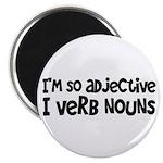 """Adjective Verb Noun 2.25"""" Magnet (10 pack)"""