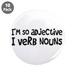 "Adjective Verb Noun 3.5"" Button (10 pack)"