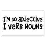 Adjective Verb Noun Sticker (Rectangle)