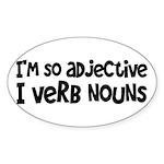 Adjective Verb Noun Sticker (Oval)