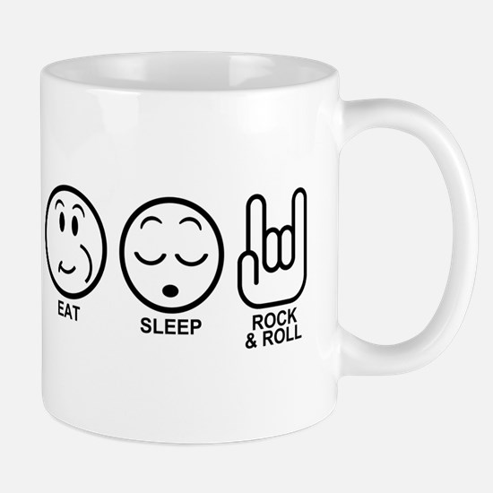 Eat Sleep Rock and Roll Mug