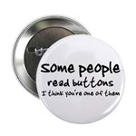 """Some People Read buttons 2.25"""" Button (10 pac"""