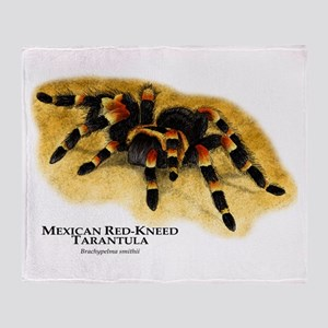 Mexican Red-Kneed Tarantula Throw Blanket