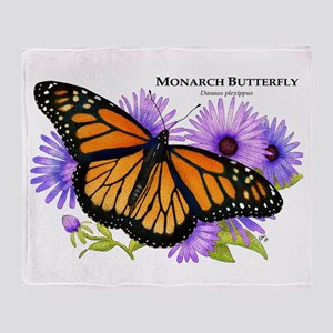 Monarch Butterfly Throw Blanket