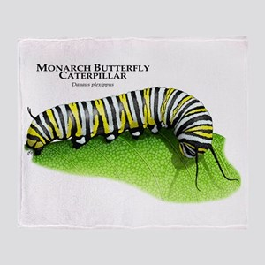 Monarch Butterfly Caterpillar Throw Blanket