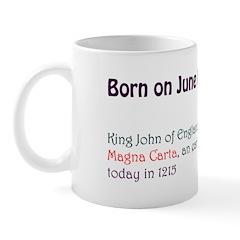Mug: King John of England put his seal to the Magn
