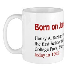 Mug: Henry A. Berliner demonstrated the first heli