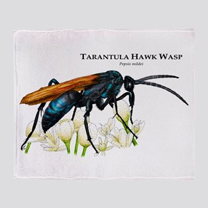 Tarantula Hawk Wasp Throw Blanket