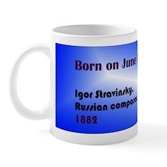 Mug: Igor Stravinsky, Russian composer, 1882