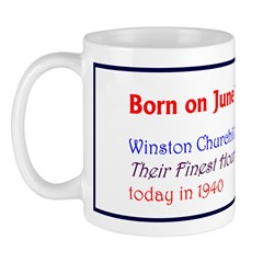 Mug: Winston Churchill delivered Their Finest Hour