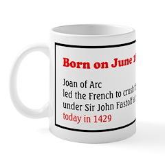 Mug: Joan of Arc led the French to crush the Engli
