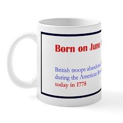 Mug: British troops abandoned Philadelphia, Pennsy