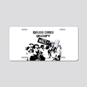 Aluminum License Plate - Anti-Occupy Wall Street