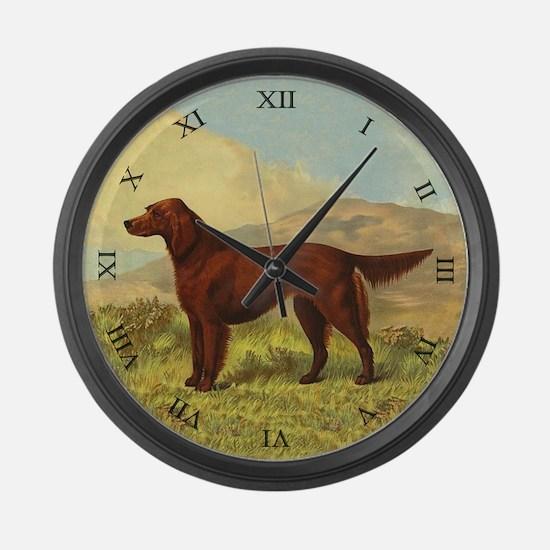 Irish Setter Large Wall Clock