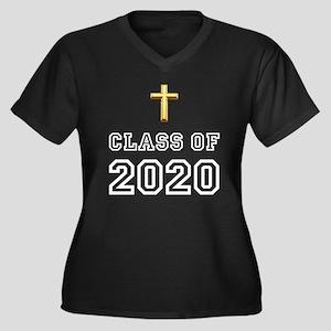 Class Of 2020 Cross Women's Plus Size V-Neck Dark