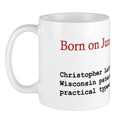 Mug: Christopher Latham Sholes of Wisconsin patent
