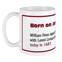 Mug: William Penn signed friendship treaty with Le