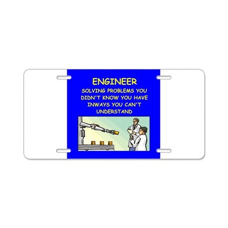 funny engineering jokes Aluminum License Plate