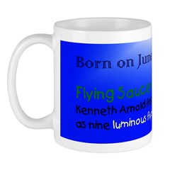 Mug: Flying Saucer Day Kenneth Arnold first sighte