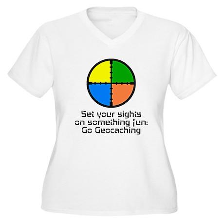 Set your Sights Women's Plus Size V-Neck T-Shirt