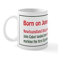 Mug: Newfoundland Discovery Day John Cabot landed