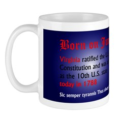 Mug: Virginia ratified the U.S. Constitution and w