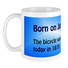 Mug: Bicycle was patented today in 1819